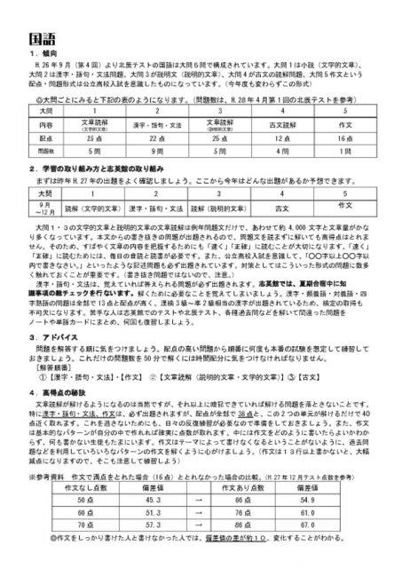 thumbnail of 北辰勉強法_国語